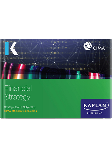 CIMA Financial Strategy (F3) Revision Cards 2021