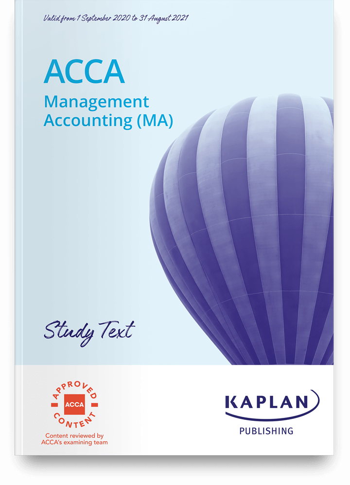 Management Accounting MA/FMA Study Text