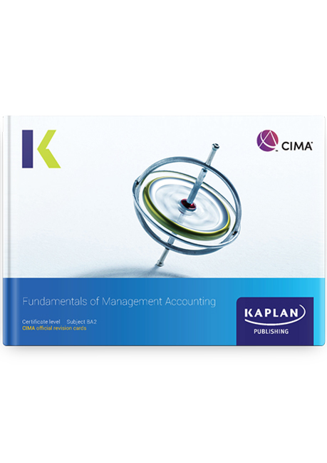 CIMA BA2 Fundamentals of Management Accounting Revision Cards 2021