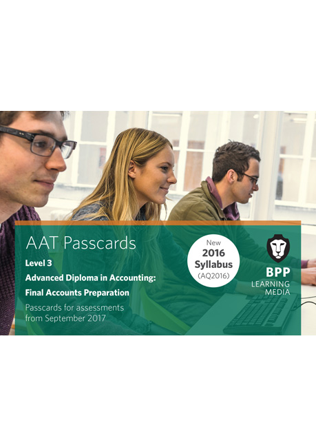 AAT Final Accounts Preparation Level 3 Passcards