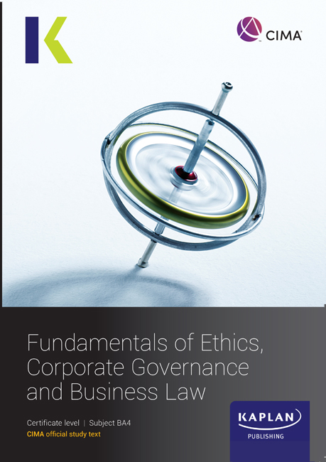 CIMA (eBook) Fundamentals of Ethics, Governance and Law Study Text (BA4) 2021