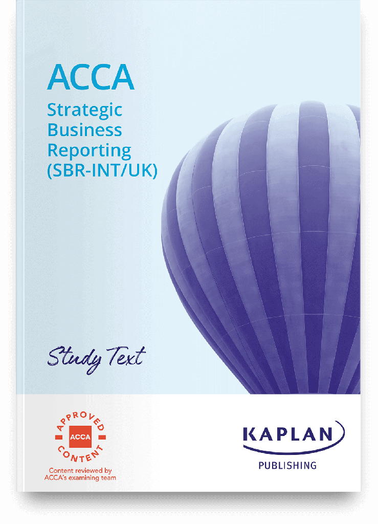 (eBook) Strategic Business Reporting (SBR) Study Text 2021