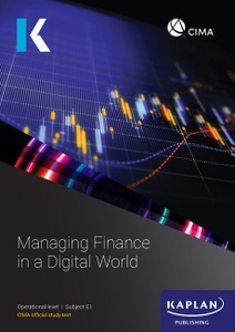 [9781787402058    ] CIMA Managing Finance in a Digital World E1 Study Text