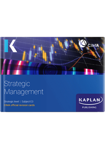 [9781787407350] CIMA Strategic Management (E3) Revision Cards 2021