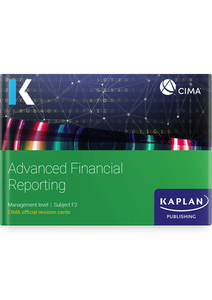 [9781787407343] CIMA Advanced Financial Reporting (F2) Revision Cards 2021
