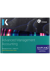[9781787407336] CIMA Advanced Management Accounting (P2) Revision Cards 2021