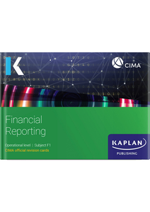 [9781787407312] CIMA Financial Reporting F1 Revision Cards 2021