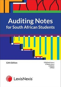 [9780639008622] Auditing Notes For South African Students