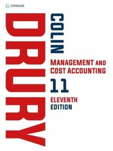 [9781473748873] Cost and Management Accounting 10th ed 2018