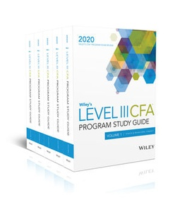 Wiley's Level III CFA Program Study Guide + Test Bank - 2020 (eBooks)